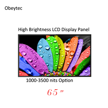 """Cost effective! 65 """"  1500cd/m2/nits FHD LCD display panel, wide view, for outdoor, wall mounted, high brightness"""