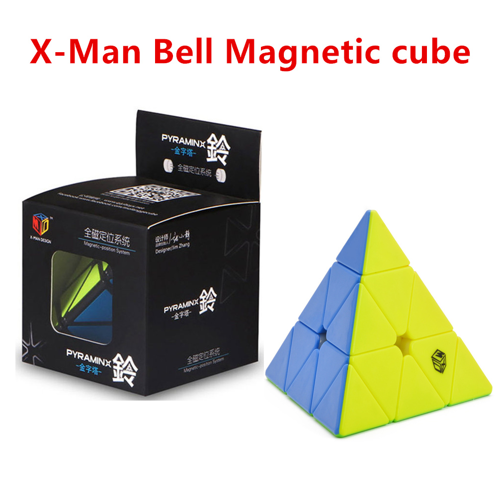 Qiyi 3x3x3 Cube X-man Bell Magnetic 3x3x3 Pyramid Cube Qiyi 3x3 Speed Pyramid  Cube X-man Magnetic Pyramid 3x3x3 Puzzle Cubo