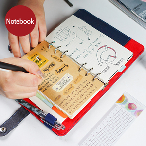 Image 1 - 2019 Notebook Diary Personal Organizer Leather Business Office Spiral Ring Binder Agenda Notebook Planner A5 A6 Stationery Gift
