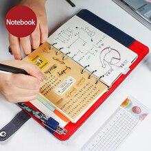 2019 ไดอารี่โน้ตบุ๊คPersonal OrganizerหนังธุรกิจสำนักงานเกลียวแหวนBinder Agenda Notebook Planner A5 A6 ของขวัญเครื่องเขียน