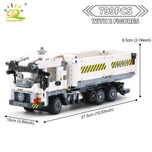 Image 3 - HUIQIBAO 799pcs Technic Engineering Dump Truck Building Blocks Vehicle Car Bricks Set Educational DIY Toys for Children Boys