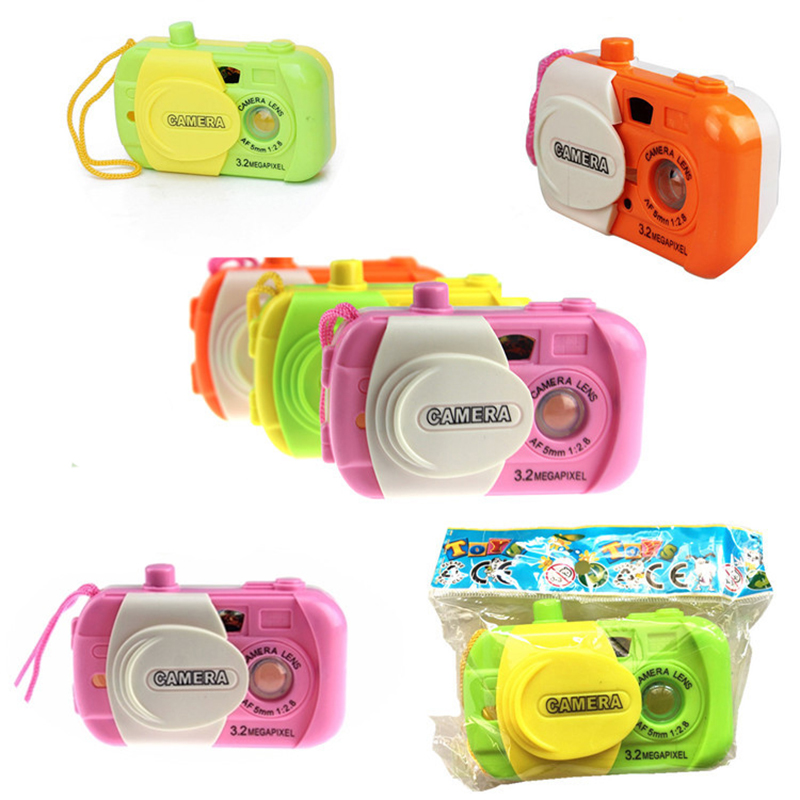 Kids Projection Simulation Mini Camera Creative Toys Children Learning Study Toys Boys Girls Random Color