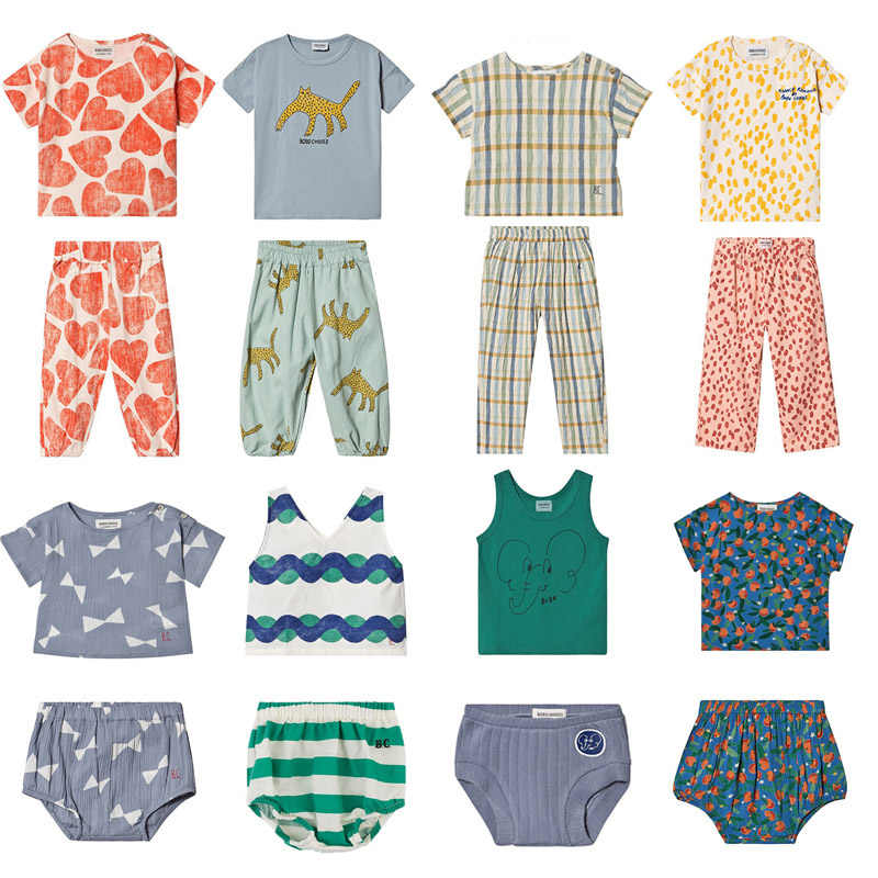 2020 BC Brand New Spring Summer Kids Clothes Sets For Boys Girls T Shirts Pant Shorts Cartoon Print Suits Baby Child Cotton