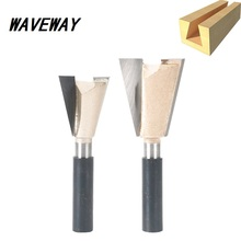цена на WAVEWAY 8mm Shank Dovetail Bits 2 Flute Router Bits For Wood Tungsten Carbide CNC Engraving Tool Milling Cutter Woodworking Bits