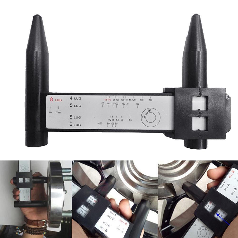 Universal 4 5 6 8 Holes Lug Car Wheel Bolt Rim Pattern Measuring PCD Gauge Tool Wheel Bolt Gauge Tool  Studs On A Vehicle Accura
