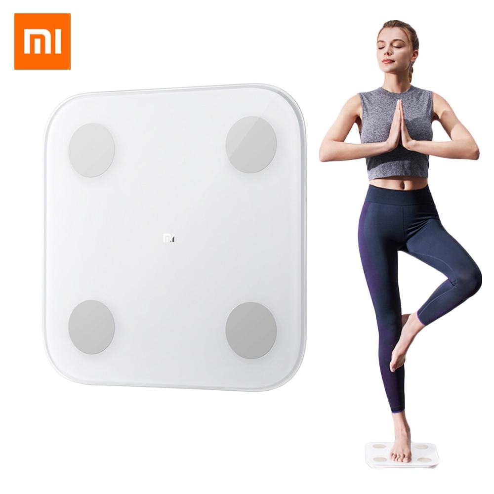 Composition intelligente d'origine Xiaomi balance de graisse corporelle 2 13 Date corporelle imc santé balance de poids numérique Mifit App 16 enregistrement de Date de membre