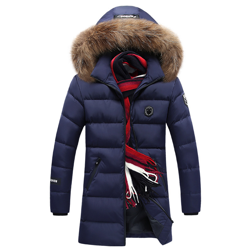 L-8XL Mens Parka 2019 Brand Men Warm Parka Casual Navy Coat Winter High Quality Hooded Cotton-Padded Jacket Men Oversize Jackets