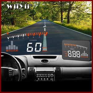 Image 1 - GEYIREN 3 Inch X5 OBD2 HUD Display Car Water Temperature Speedometer Hud Head Up Display Electronic Hud Cars Free Shipping 2016
