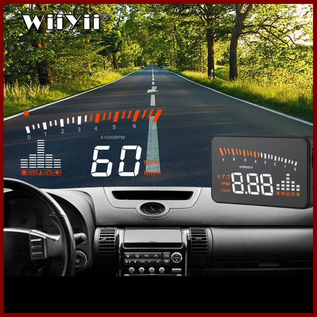 GEYIREN 3 Inch X5 OBD2 HUD Display Car Water Temperature Speedometer Hud Head Up Display Electronic Hud Cars Free Shipping 2016