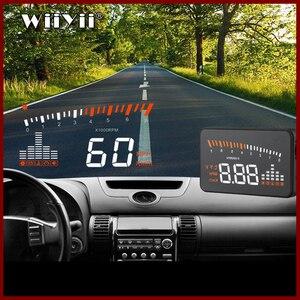 Image 1 - GEYIREN 3 pouces X5 OBD2 HUD affichage voiture température de leau compteur de vitesse Hud tête haute affichage électronique Hud voitures livraison gratuite 2016