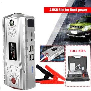 Carro ir para iniciantes 600a dispositivo de partida portátil carregador 4 usb 19000 mah powerbank para tablet poverbank do telefone móvel com luz led