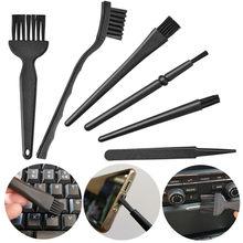 Brosse antistatique ESD en Nylon plastique noir 6 en 1, ensemble d'outils pour le nettoyage du clavier, Brosse propre