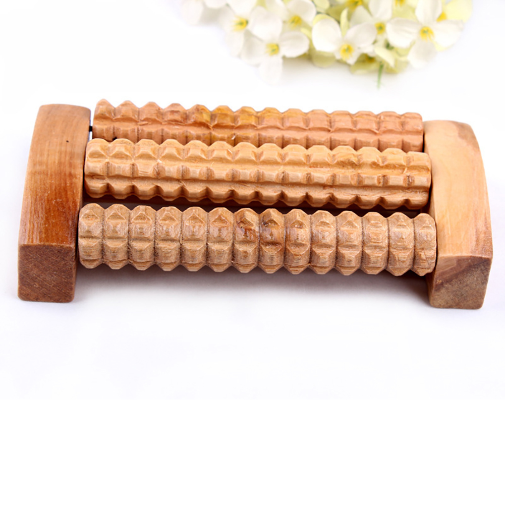 Heath Therapy Relax Massage Tool Wood Roller Foot Massager Stress Relief Health Care Therapy