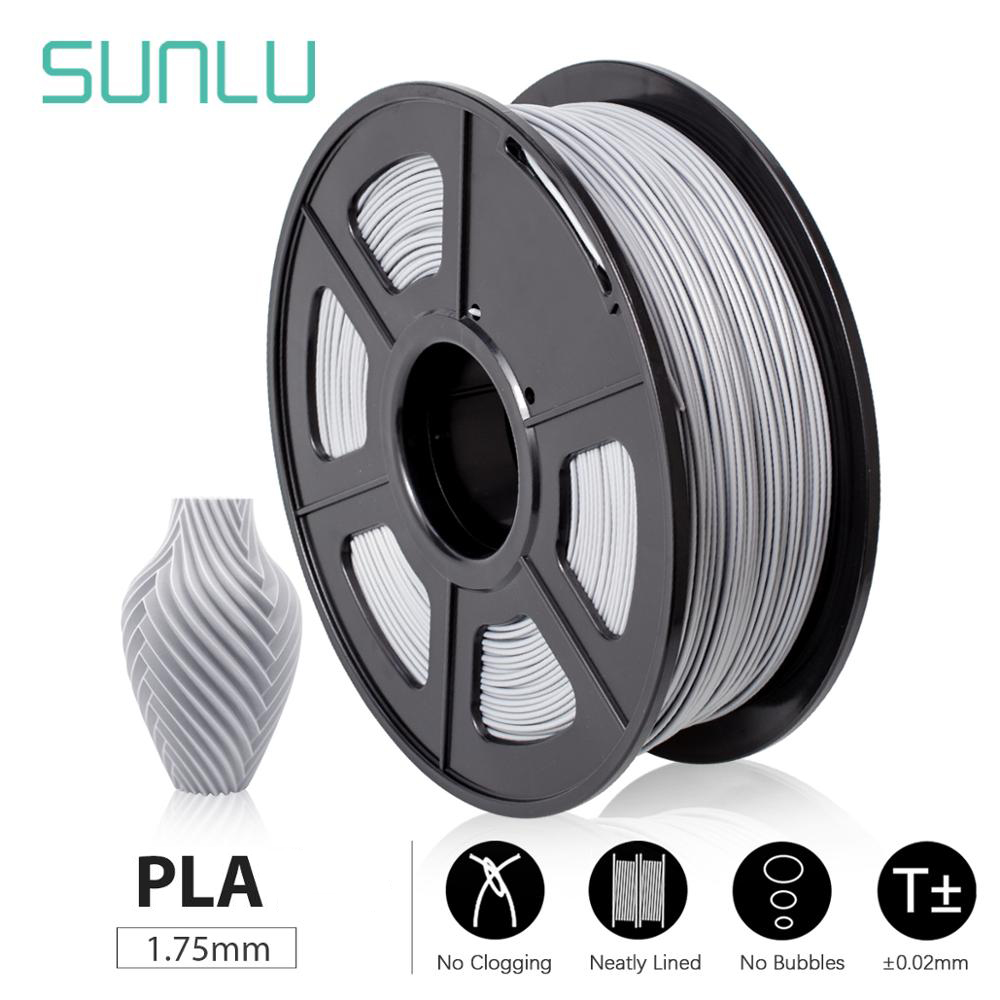 SUNLU PLA  PLA SPLA 3D Printer Filament 1 75mm 1KG PLA Metal Plastic Filament Material oversea warehouse fast ship Top Quality