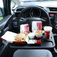 Mesa Universal multifuncional para coche, soporte para taza de agua para asiento trasero de comida, bandeja para coche, soporte para teléfono, estante de paleta de estilo
