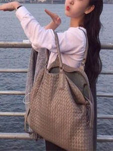 Sheepskin-Handbag Woven-Bag Single-Shoulder-Bag Internal Woman High-Capacity Manual Head-Layer