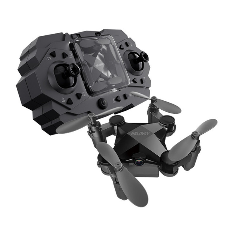 Mini Drone Romote Control Helicopter Quadcopter with HD Wide Angle Camera Foldable Altitude Hold Durable RC Aircraft Kids Toys