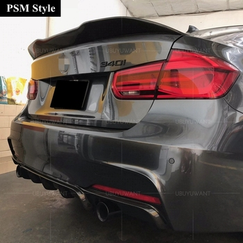 Rear Lip Spoiler For BMW F30 3 Series F35 2012 2013 2014 2015 2016 2017 2018 ABS Tail Trunk Wing Decoration V / M / P /PSM Style car rear spoiler wing real carbon fiber for bmw 3 series 4 doors f30 f35 f80 p style 2012 2018 carbon rear wing spoiler tail lip