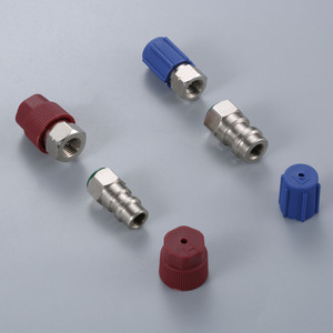 Image 5 - Straight Adapters w/ Valve Core & Service Port Caps R12 R22 to R134a Retrofit Parts Kit Conversion Adapter Valve