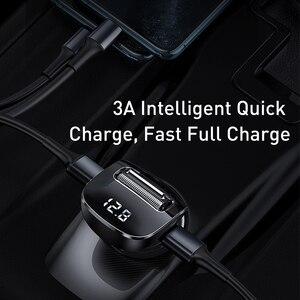Image 3 - Baseus szybka podwójna ładowarka samochodowa USB do iphonea zestaw samochodowy Bluetooth z nadajnikiem FM odtwarzacz MP3 ładowarka do telefonu Samsung Xiaomi