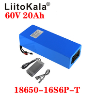 LiitoKala 60V ebike battery 60V 20Ah lithium ion battery electric bicycle battery 60V 1500W electric scooter battery