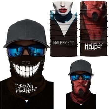 Alice in Wonderland Maleficent Hellboy Sun Dust Protection Face Mask Bandana Headband Neck Scarf Cosplay Adult Tube Masks