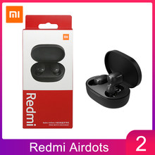 Xiaomi redmi airdots 2 fones de ouvido controle ai baixo estéreo com microfone handsfree tws sem fio bluetooth 5.0 fone ouvido
