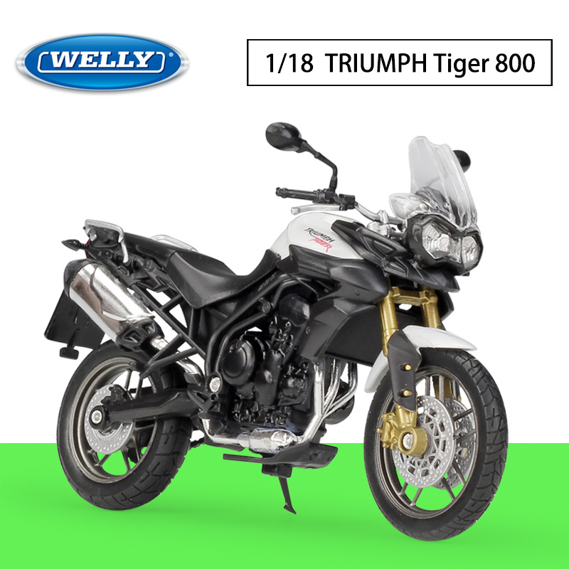 1:18 WELLY Motorcycle TRIUMPH Tiger 800 Metal Diecast Alloy Model Toys Gift