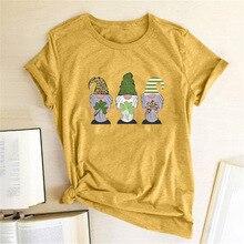 St. Patrick's Day Three Dwarfs T-shirts Women Funny T Shirt