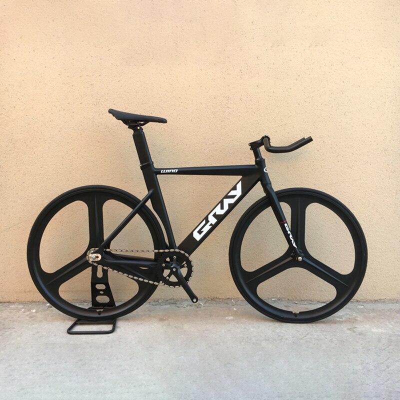 Grey Track Bike With Aluminum Alloy Frame 700C Fixed Gear Bike 48cm 52cm Fork Magnesium Alloy Wheel Single Speed Fixie Bike