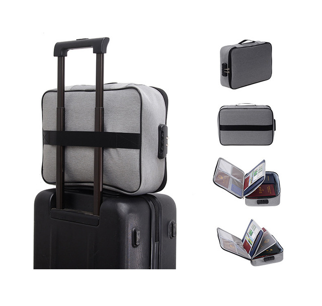 Document Bag Large Capacity Travel Passport Wallet Card Organizer Men's Business Waterproof Storage Pack Home Accessories Item 5