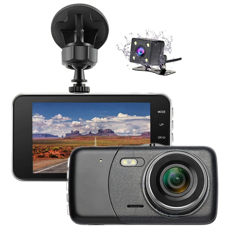 Camera-Recorder Dashboard Driving-Loop Parking 170-Degree Dual 4inch Car Wide-Angle 1080P
