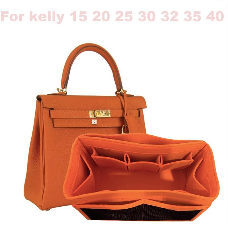 Buy Customizable For Ke lly-25 28 32 35 40/3MM Wool Felt Handmade Insert Bags Organizer Makeup Handbag Organize Portable base shaper for only 23.9 USD