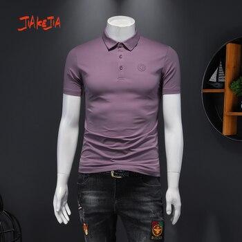 цена 2020 summer Mercerized cotton man polo shirt solid men shortsleeve shirt Breathable polo-shirt cotton men's polo shirt онлайн в 2017 году