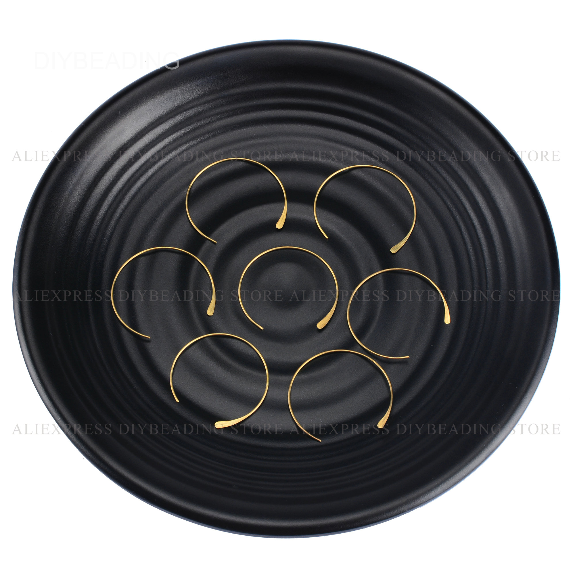 10-500 шт серьги-кольца оптом латунные круглые открытые круглые 21 Калибр ушные провода обруч компонент для изготовления серег