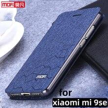 "flip case for xiaomi mi9 se case stand xiaomi 9se cover leather fabric mofi book  luxury glitter fundas 5.97"" xiaomi mi9se book"