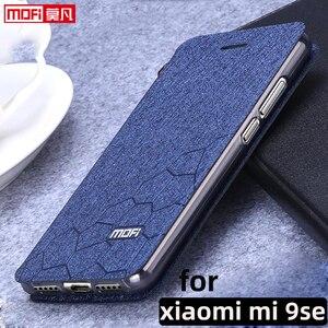 "Image 1 - flip case for xiaomi mi9 se case stand xiaomi 9se cover leather fabric mofi book  luxury glitter fundas 5.97"" xiaomi mi9se book"