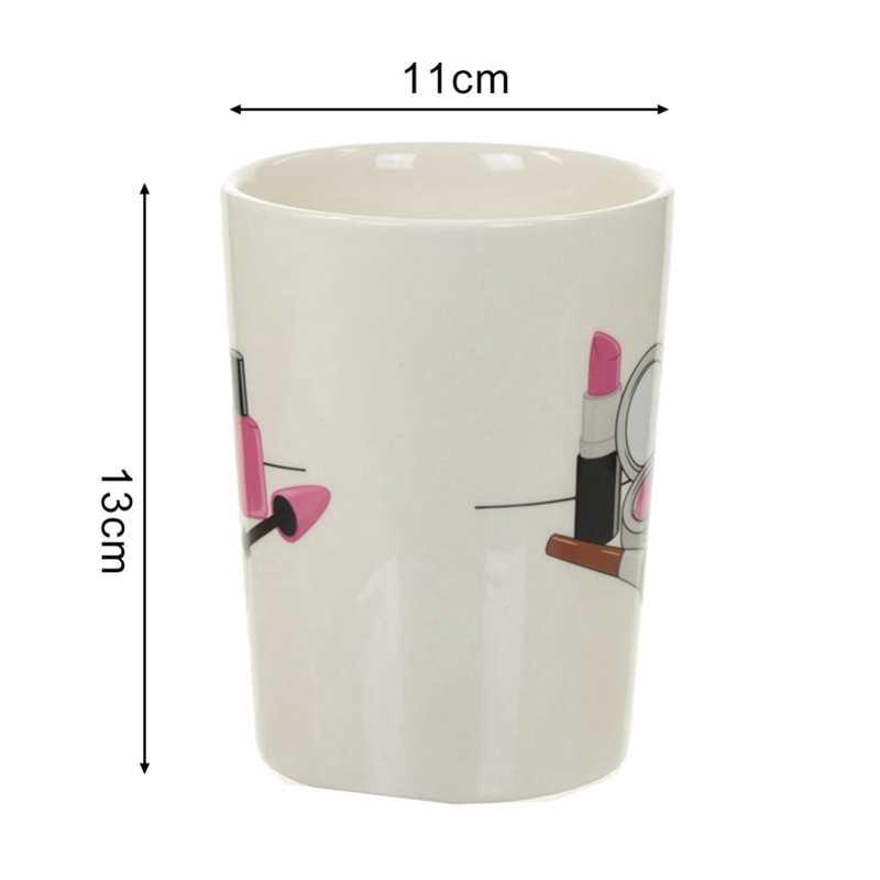 TOP! -3D Dipinto A Mano Creativo Tazze di Ceramica Della Ragazza Strumenti di Bellezza Kit Speciali Nail Polish Maniglia di Tè Tazza di Caffè Tazza di tè Personalizzato tazza