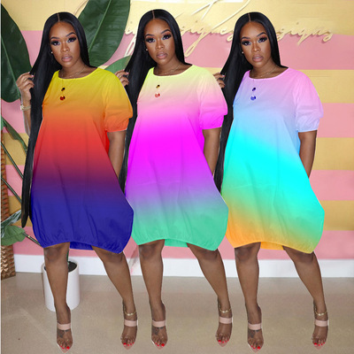2021 new large women's new casual dress