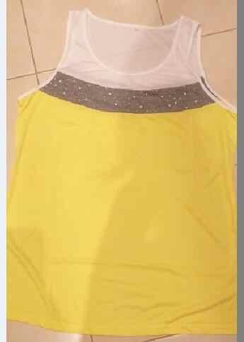 Tシャツ女性 2019 ファッション新着ホット夏スタイルヨーロッパドリル爪ビーズカラーパッチワークベスト tシャツ vestidos LDM190406