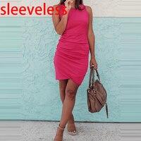 sleeveless rose red