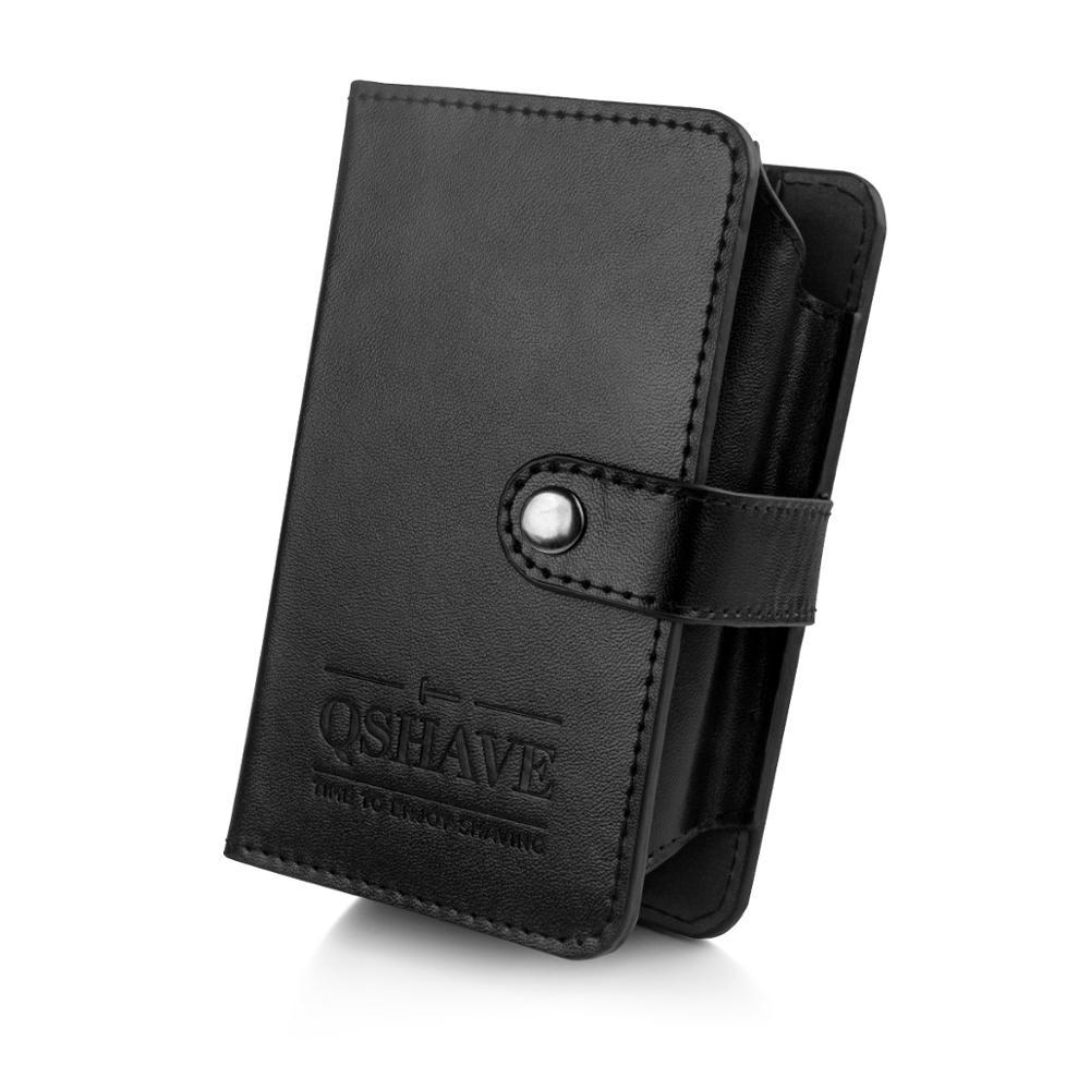 QSHAVE Razor Shaving Brush Travel Case, Snap On, Wet Shaving Travel Kit, Gifts For Husband, Gifts For Travelers (Case Only)