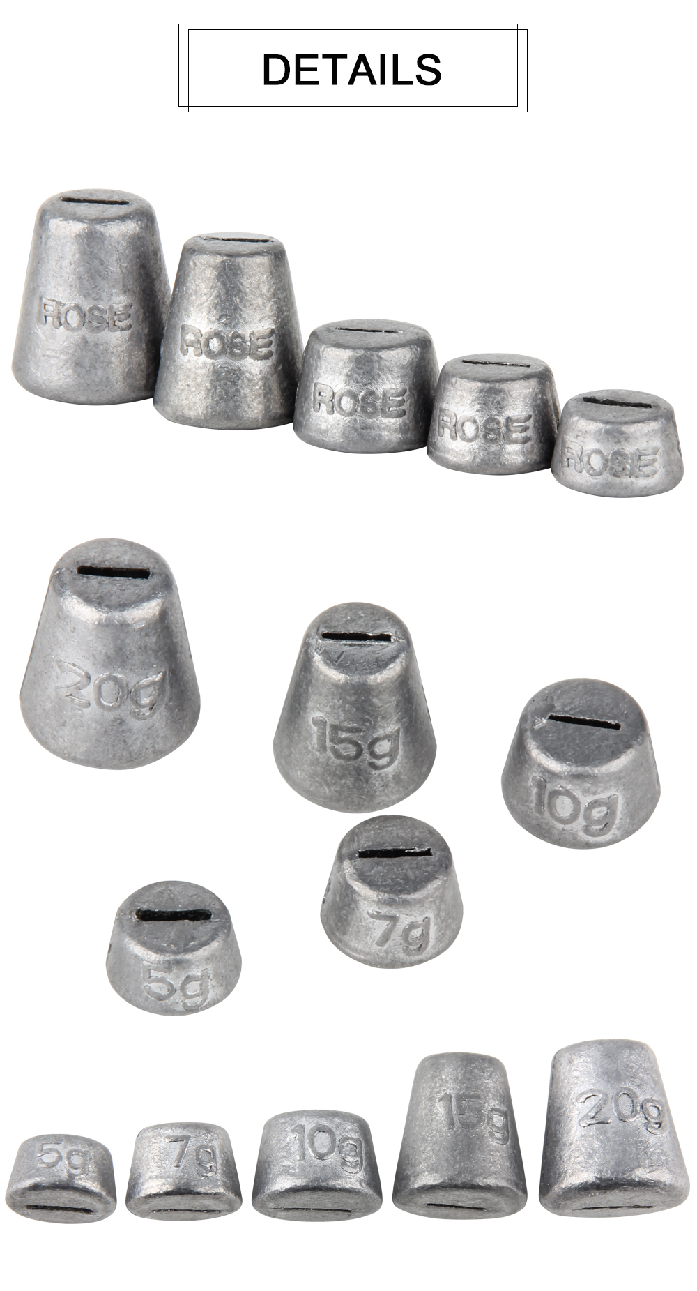 Lead Sinkers Weights  (3)