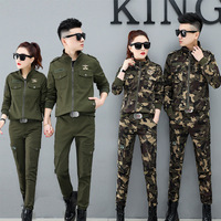 W2655.9255 Women's Square Sailor Dance Sports Clothing Pure Cotton Uniform WOMEN'S Suit Military Training Work Camouflage