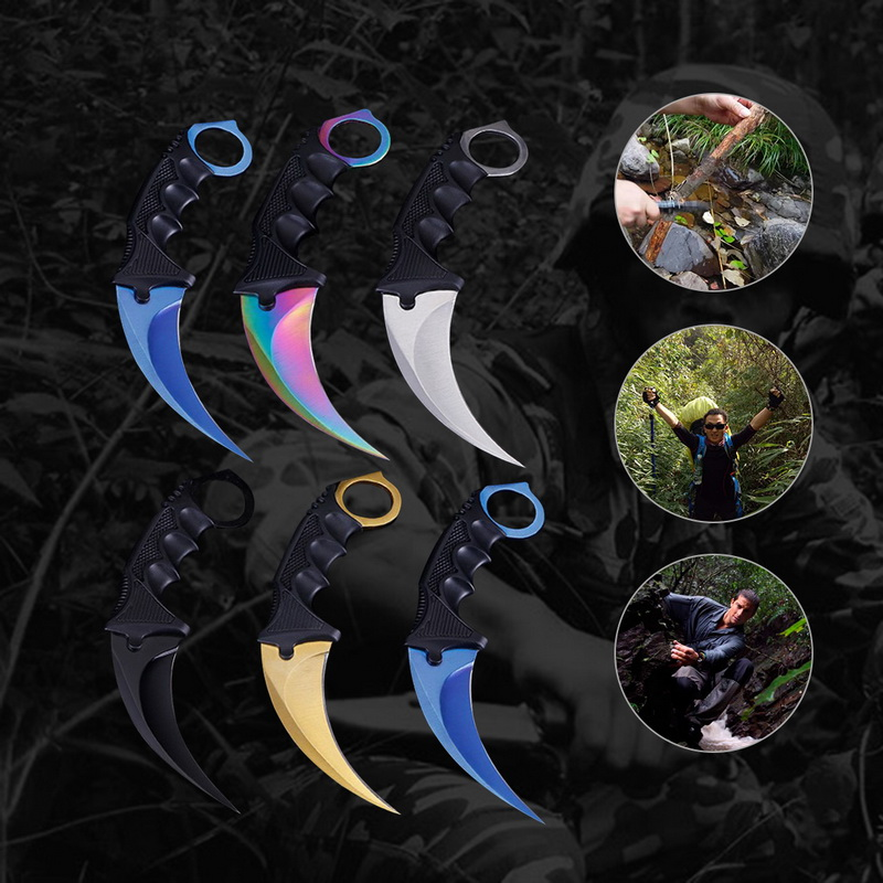Hunting Knife CS GO Tactical Claw Neck Knife Camp Combat Outdoor Self Defense Offensive Hunting Survival Tool Fight Hike Knife image
