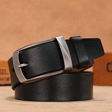 Cinturones de correa para cintura para hombre, cinturones de cuero de vaca auténtico de alta calidad, de talla grande, Vintage, Cinturón de piel de vaca, vaqueros, ceinture