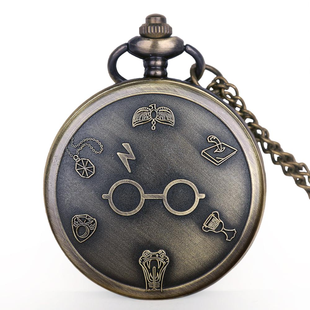 Fashion Male Quartz Pocket Watch Glasses Ball Pattern Exquisite Pendant Necklace Digital Numbers Watches With Fob Chain Gifts