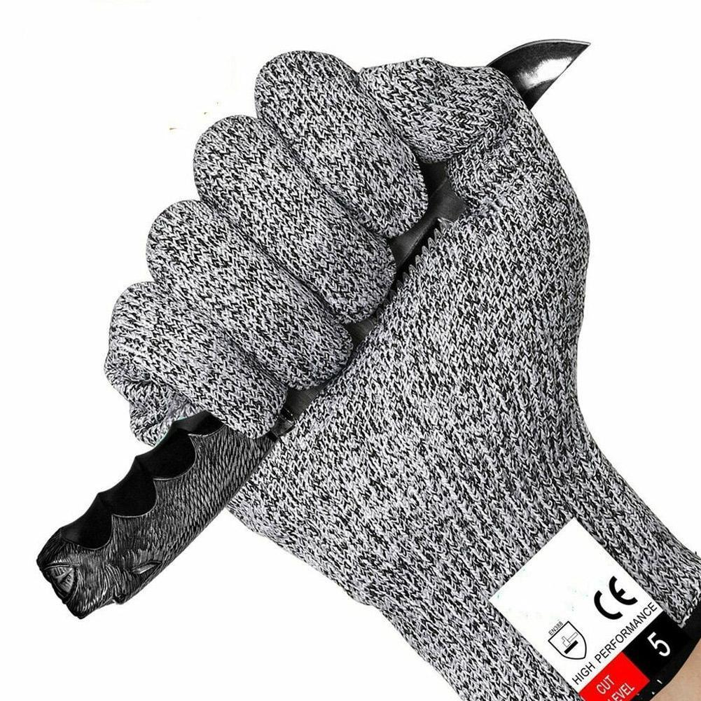 New 1 Pair Anti-cut Gloves Safety Cut Proof Protective Stab Resistant Stainless Steel Wire Metal Mesh Cut-Resistant Gloves