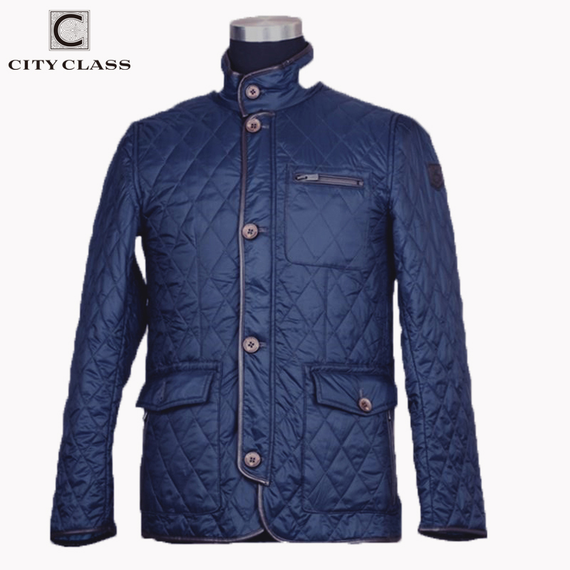 CITY CLASS 2020 New Spring Autumn Mens Coat Quilted Jacket Business Casual Fashion Bomber Jacket Coats For Male 8006