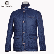 CITY CLASS 2020 New Spring Autumn Mens Coat Quilted Jacket Business Casual Fashi